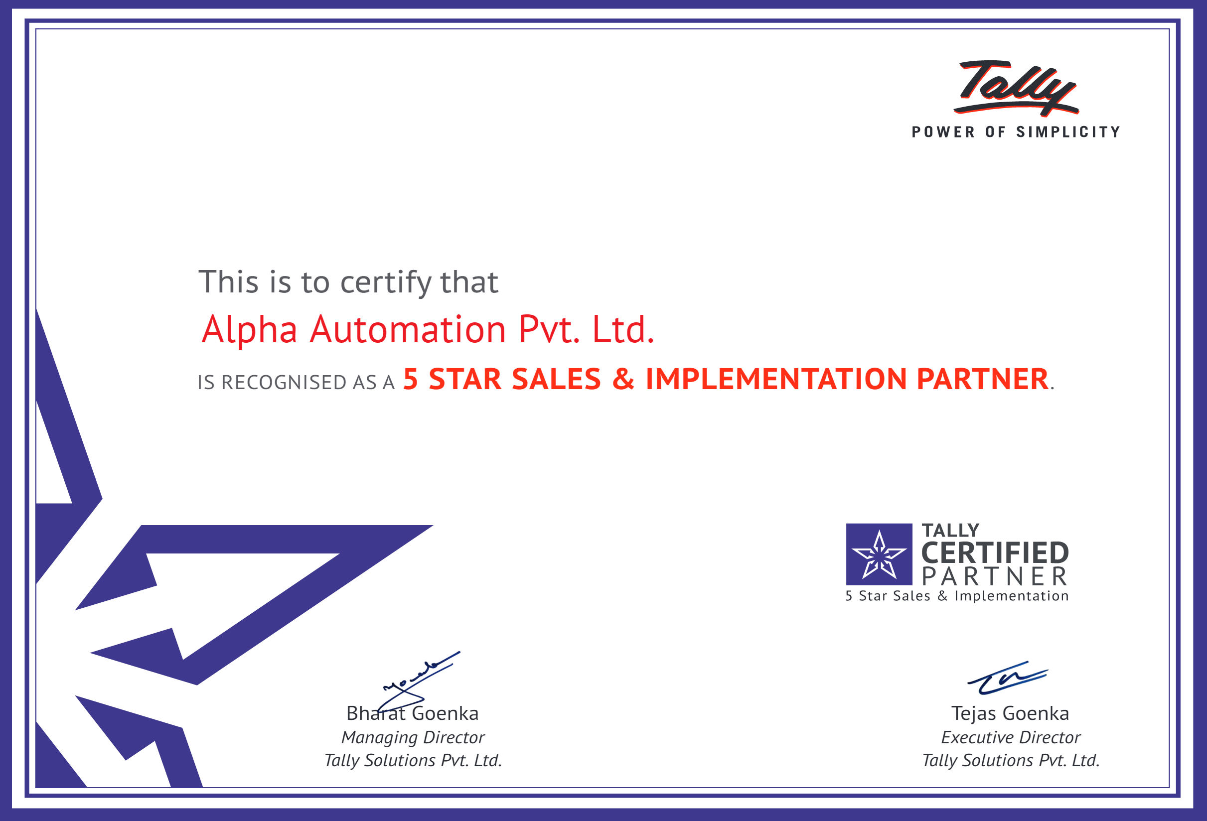tally-5-Star-Partner-Certificate