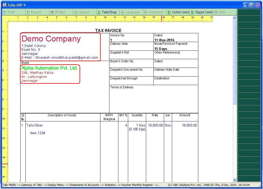 Tally Customization  Tally ERP 9 Sales, Support
