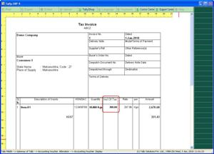 Print Inclusive Of Tax Rate In Invoice