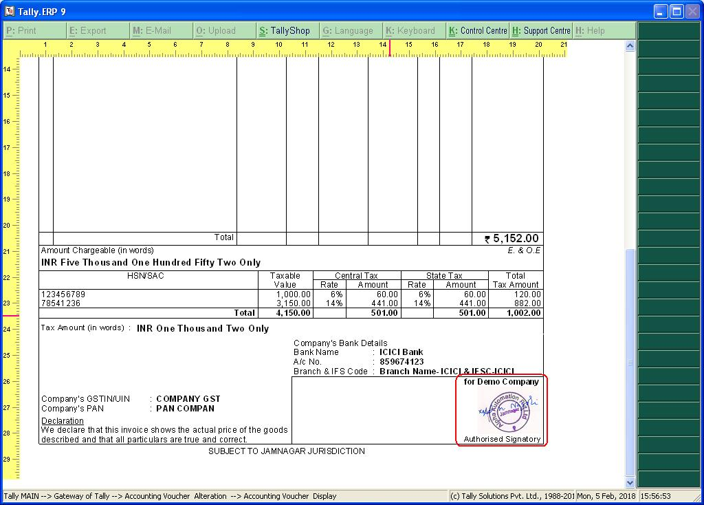 how to create sales invoice in tally 7.2 steps