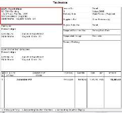 Voucher Type wise Company Address Print in Invoice